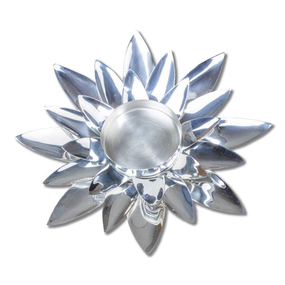 Silver Lotus Flower Tealight
