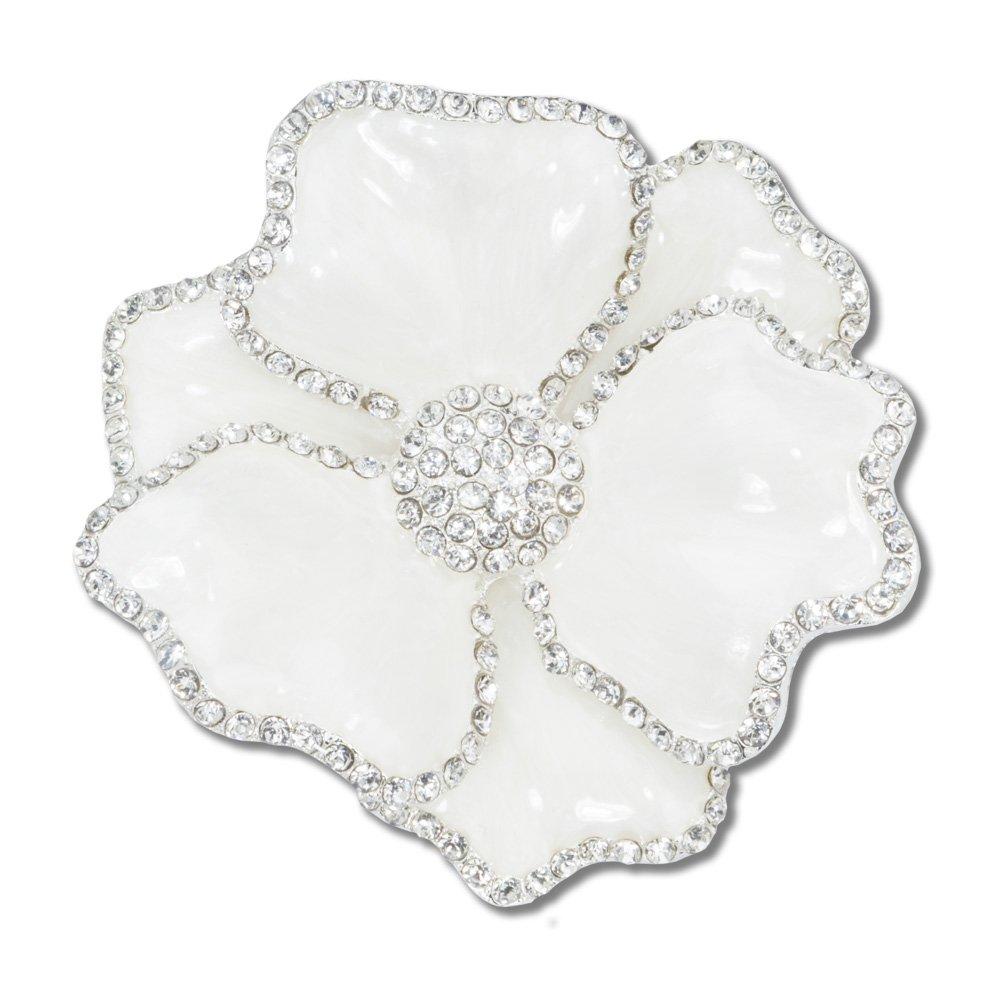 White Rose Silver Napkin Ring Serviette Holder For Dinner Table Weddirect Wedding Dresses Supplies From China